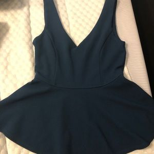 Forever21 — Teal Tank Peplum Top with Zipper